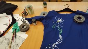 rochie pictata manual dona Kyros