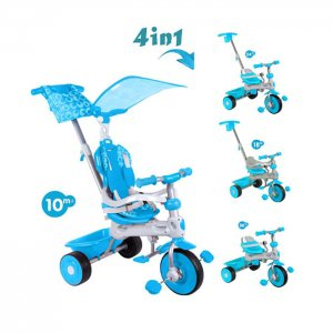 tricicleta-copii-baby-trike-deluxe-4-in-1-albastru